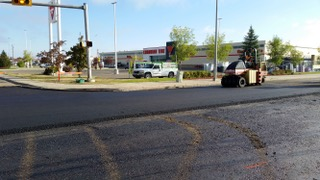 CassilsRoad Intersection Paving