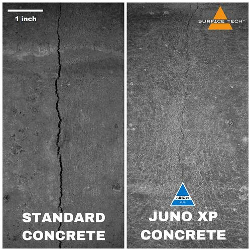 JUNO XP Concrete crack test