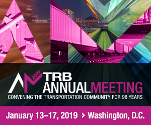 Transportation Research Board (TRB) 98th Annual Meeting